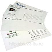 Печать на конвертах (тираж 100) цветность 1+0 формат А5 фото
