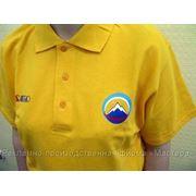 Футболки с Вашей символикой малыми тиражами, символика на корпоративной одежде фото