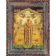 Благовещенская икона Вертоград Заключенный Богородица, копия старой иконы, печать на дереве Высота иконы 11 см фото