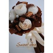 Букет из конфет Sweet idea шоколад-ваниль фото