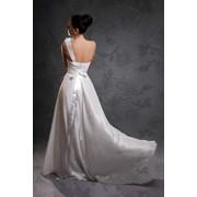Шелковое свадебное платье фото