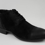 Ботинки муж спилок натуральный мех черный фото