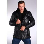 Куртка кожаная стильная стеганая фото