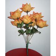 Цветок искусственный Роза 7 голов фото