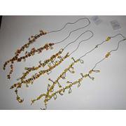 Янтарные ожерелья фото