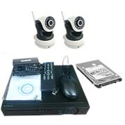 """Комплект видеонаблюдения с жестким диском """"Zodiak Combo 2 Wi-Fi Home Storage"""" (2 WiFi камеры+регистратор+архив) фото"""