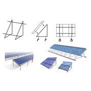 Монтаж креплений и установка солнечных модулей фото