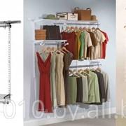 Гардеробная PartHouse, комплектация Medium, цвет белый, серебро фото