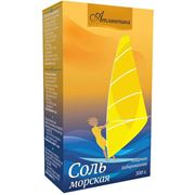 Соль морская пищевая йодированная мелкая Атлантика фасованная в картонную пачку - 500 г фото