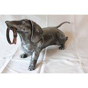 Скульптуры кованые (такса) фото