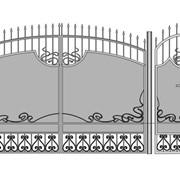 Ворота кованые Вк-15 фото