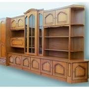 Библиотека с угловой секцией фото