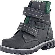 552064-52 чер-зел ботинки дошкольно-школьные нат. кожа Р-р 32 фото