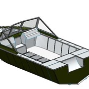 Проектирование алюминиевой лодки под заказ Киевская область Украина фото
