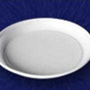 Тарелка одноразовая 205 мм. 1-секц фото