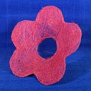Каркас для букета сизаль цветок Ромашка 25см розовый фото
