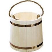 Ведро для бани и сауны деревянное на 15 литров фото