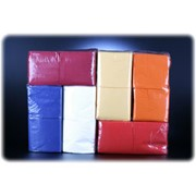 Салфетки 1-слойные, ЦВЕТНЫЕ (интенсивных тонов) 24*24 Big-pack (эконом) фото