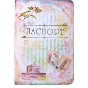 Обложка Для Паспорта Винтажная Пластик фото