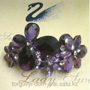Заколка с кристаллами Swarovski, код 5206065 фото