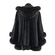 Куртка бархатная с мехом фото