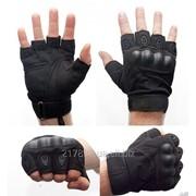 Тактические перчатки Oakley (Беспалый). - Black M,L,XL фото