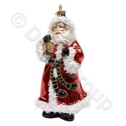 Декорация Дед Мороз в красн,белом свитере 46см фото