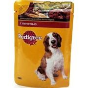 Pedigree - консервы с печенью в соусе педигри для взрослых собак всех пород / пауч фото