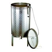 Крышка из нержавеющей стали для ёмкостей,диаметр 540 мм. - вместимостью 150 (низкая)-200 литров фото