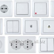 Выключатель 2-клавишный о/у Белый ЭТЮД 200 ВА10-002В фото
