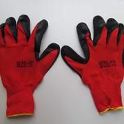 Трикотажные рабочие перчатки с латексным покрытием фото