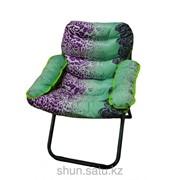 Кресло, 73 * 97 см, фиолетово-зеленый фото