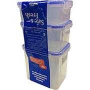 Набор контейнеров пищевых, герметичные, 3 штуки SF-Н02-1 (0,35-0,47-0,85л) от С -40 до +120 фото