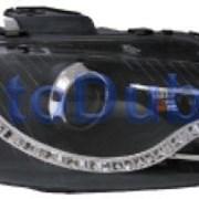 Audi A3 Тюнинг комплект линзованных фар внутри черные.(DEVIL EYES) 2004-2008 фото