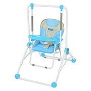 Качели+стульчик для кормления Bambi: со съемным столиком фото