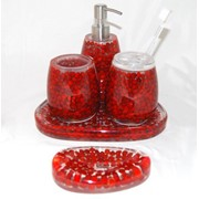 Набор для ванны (4 предмета) - Декоракрил с натуральными наполнителями фото