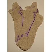 Носки женские платировка, спортивные женские носки, махровые носки, стрейчевые носки от производителя, Изделия чулочно-носочные льняные фото