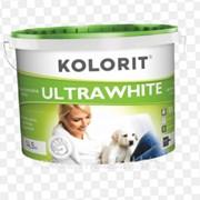 Глубокоматовая водно-дисперсионная краска Ultrawhite Kolorit Белая 5л. фото