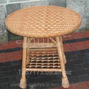 Плетеный стол круглый фото