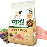 Полнорационный сухой корм для взрослых собак маленьких пород Optimeal 12 кг фото