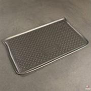 Коврик в багажник Chevrolet Spark 2005-2009 (полиуретановый с бортиком) фото