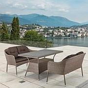 Комплект плетеной мебели T198B/S54B-W56 Light brown фото