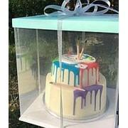 Коробка для 2-х ярусного торта 36х36 h-40см фото