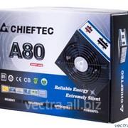 Блок питания Chieftec RETAIL A-80 CTG-650C,12cm fan,a/PFC,24+8,4xPeripheral,6xSATA,2xPCIe,modular фото