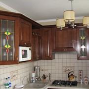 Изготовление мебели с применением фасадов из натурального шпона. фото