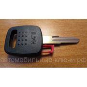 Заготовка ключа зажигания для Ниссан, с местом для чипа (kn048) фото