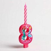 Свеча в торт цифра Дисней 8, Принцессы фото