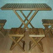 Набор для пикника раскладной из дуба, ольхи фото
