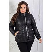 Куртка женская на молнии из плащевки (4 цвета) - Черный НД/-11457 фото