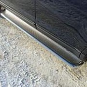 Пороги Ford Edge 2013-2015 (с площадкой нерж. сталь 42 мм) фото